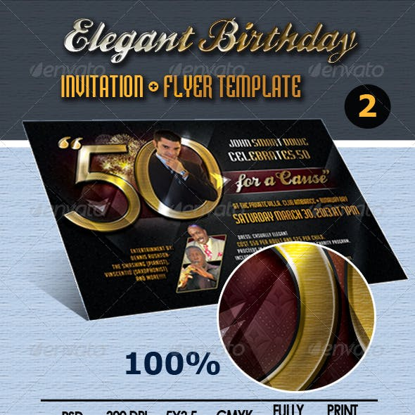 Elegant Birthday Invite/Flyer Template