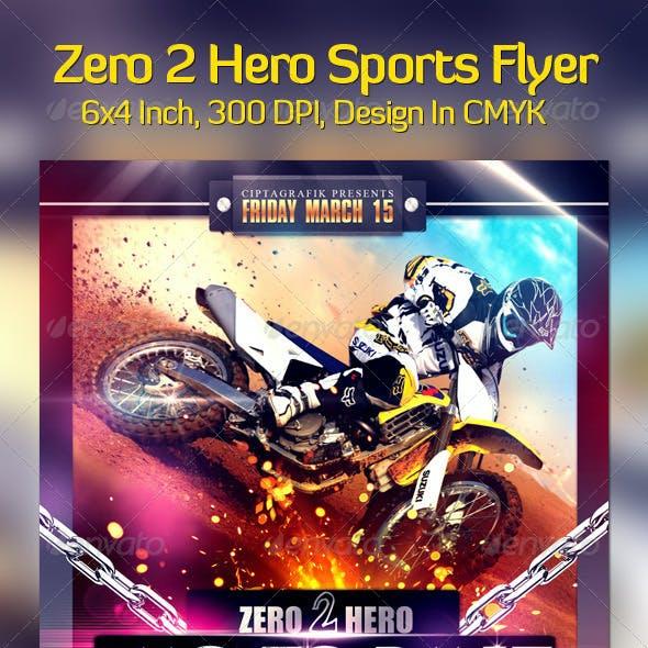 Zero2Hero Sports Flyer
