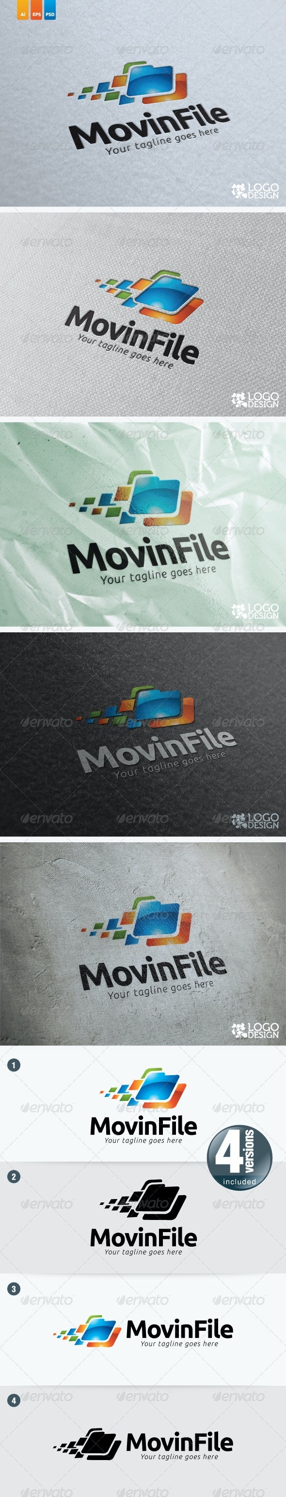 Movin File - Objects Logo Templates