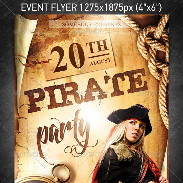 Pirate Party Event Flyer