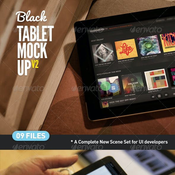 Black Pad | Tablet App Scenes UI Mock-Up V2