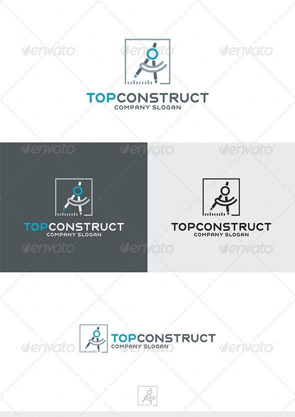 Top Construct Logo - Buildings Logo Templates