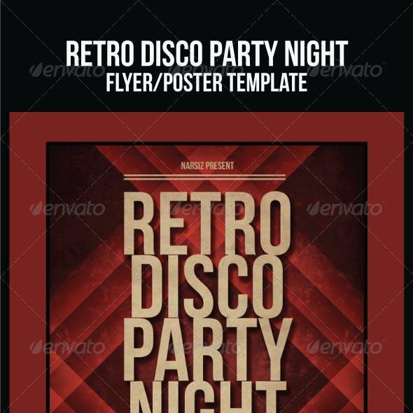 Retro Disco Party Night Flyer/Poster Templates