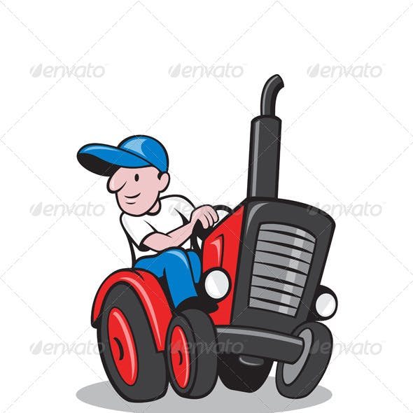 Farmer Tractor Graphics Designs Templates From Graphicriver