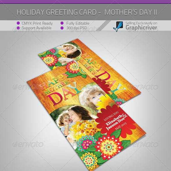 Mother's Day Greeting Card - Flowers II
