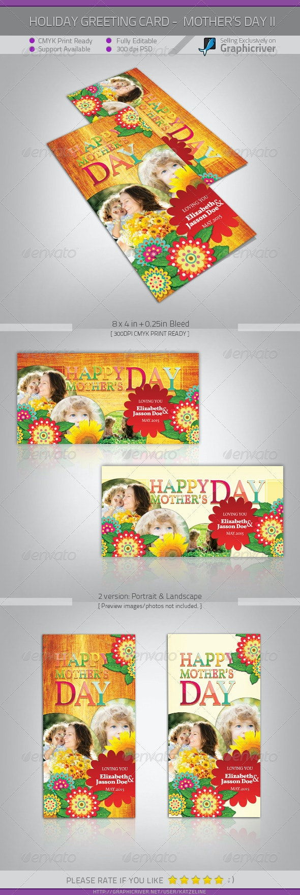 Mother's Day Greeting Card - Flowers II - Holiday Greeting Cards