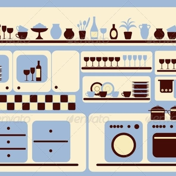 Kitchen Ware and Home Objects Set