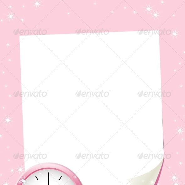 White Paper Sheet on the Pink Background