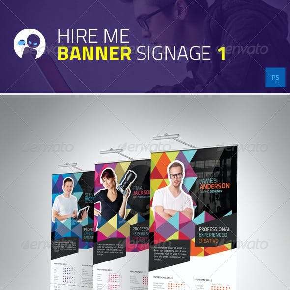Hire Me - Banner Signage 1
