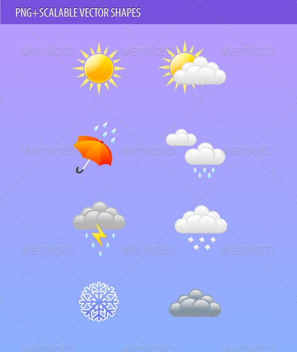 Weather icons - Web Icons