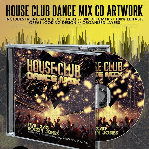 House Club & Dance Mix CD Album Artwork