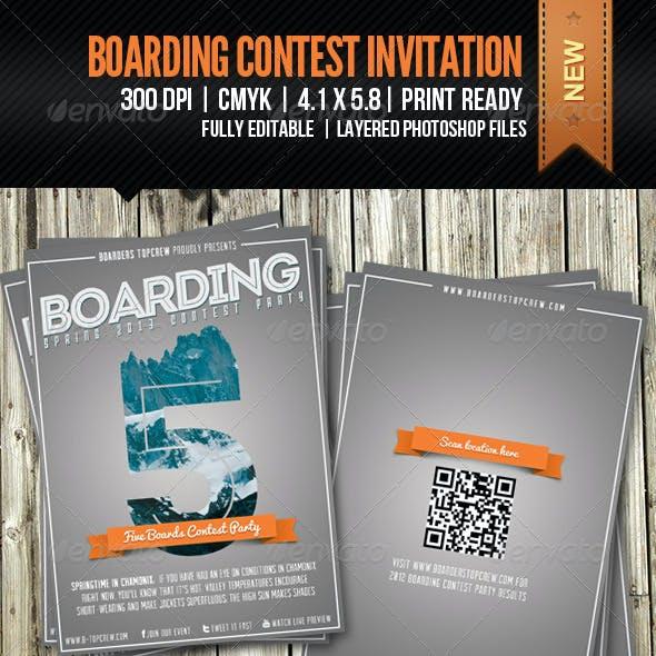 Five Boards Contest Invitation