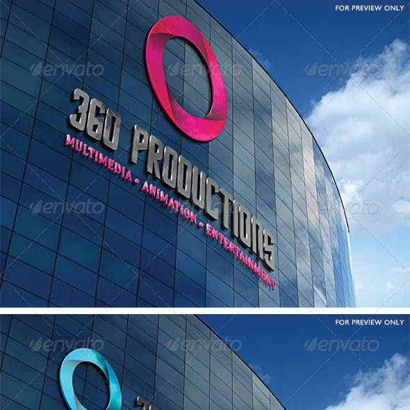 360 Productions Logo Template