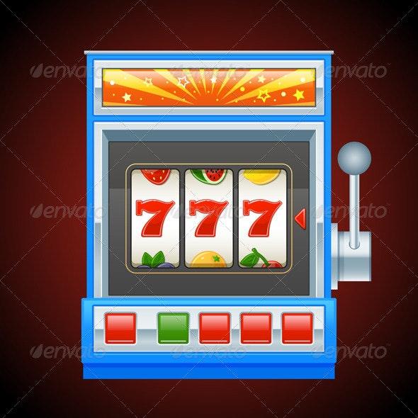 Blue Slot Machine - Miscellaneous Vectors