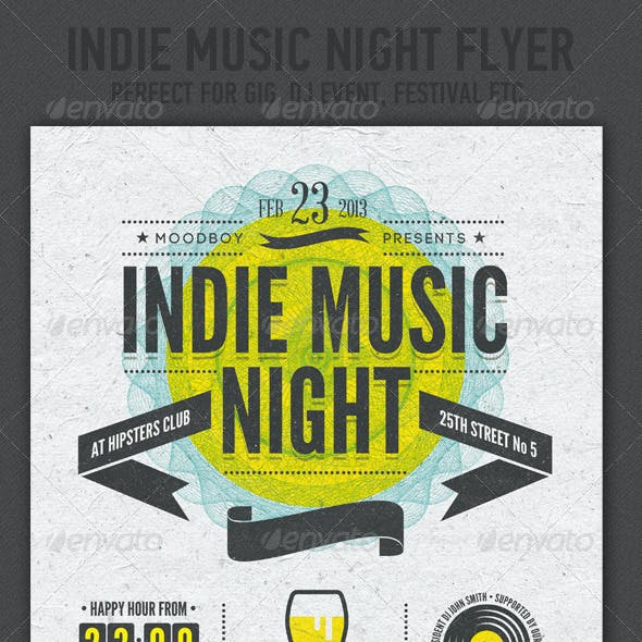 Indie Music Night Flyer / Poster