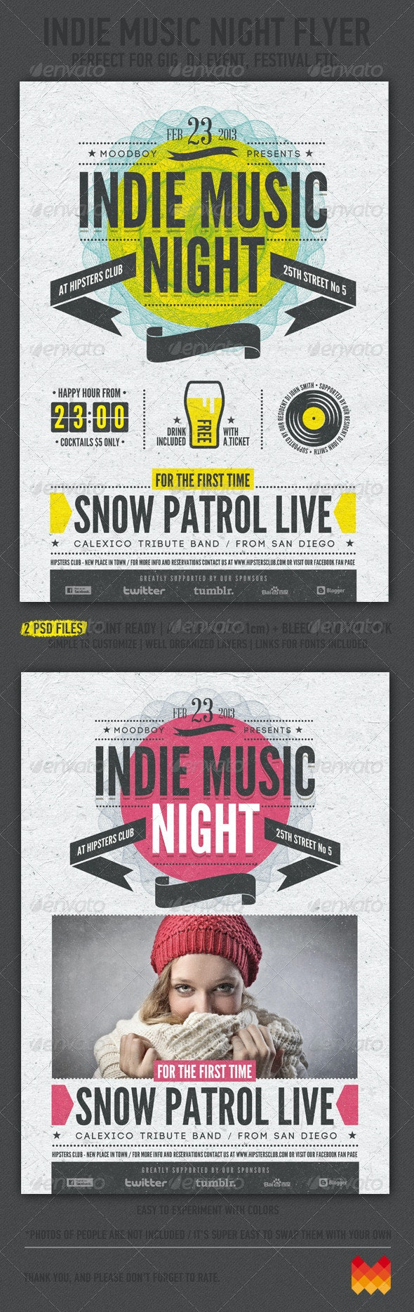 Indie Music Night Flyer / Poster - Events Flyers