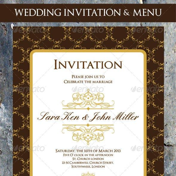 Wedding Invitation & Menu Cards Design