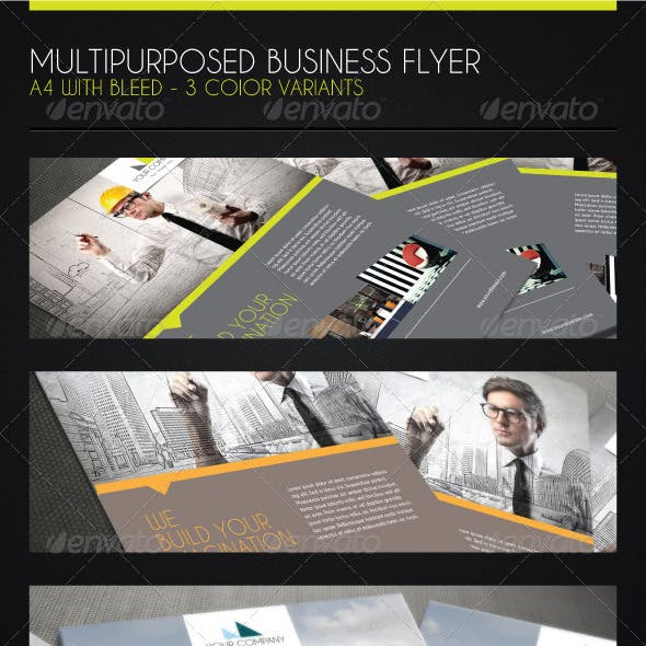 A4 Flyer for Multipurpose Business