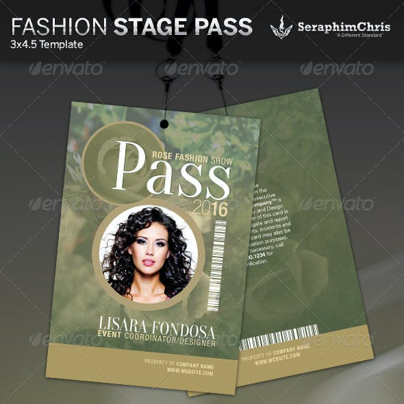 Fashion Show Stage Pass Template
