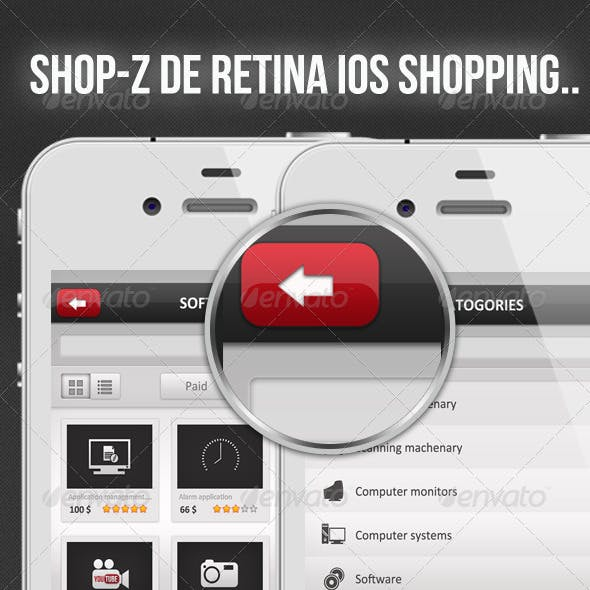 Shop-Z De Retina, Retina Shopping Application
