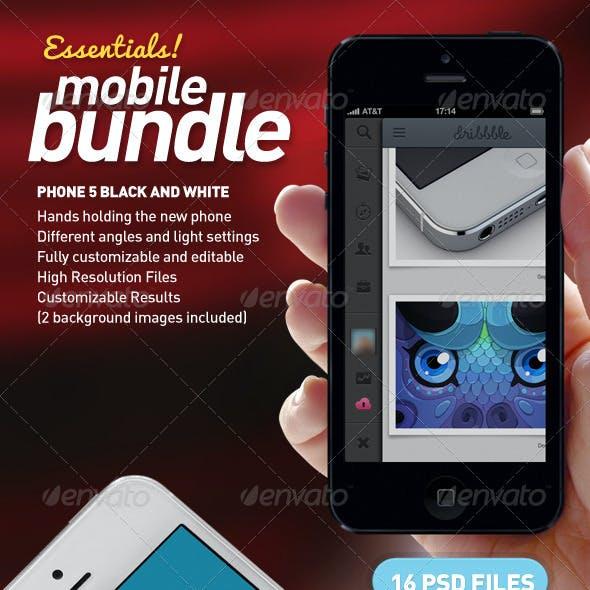 Mobile App Mock-Up Essentials Bundle