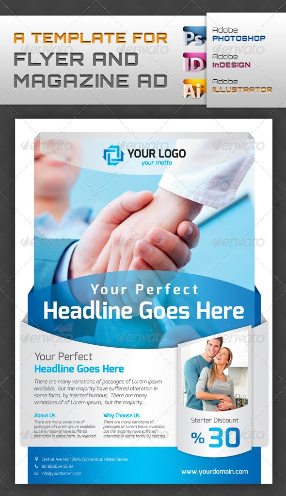 Template For Flyers and Magazine Ads - Corporate Flyers