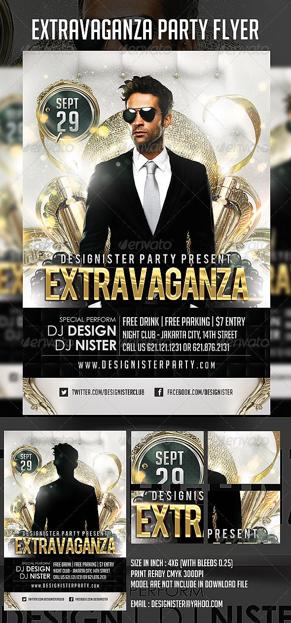 Extravaganza Flyer - Clubs & Parties Events