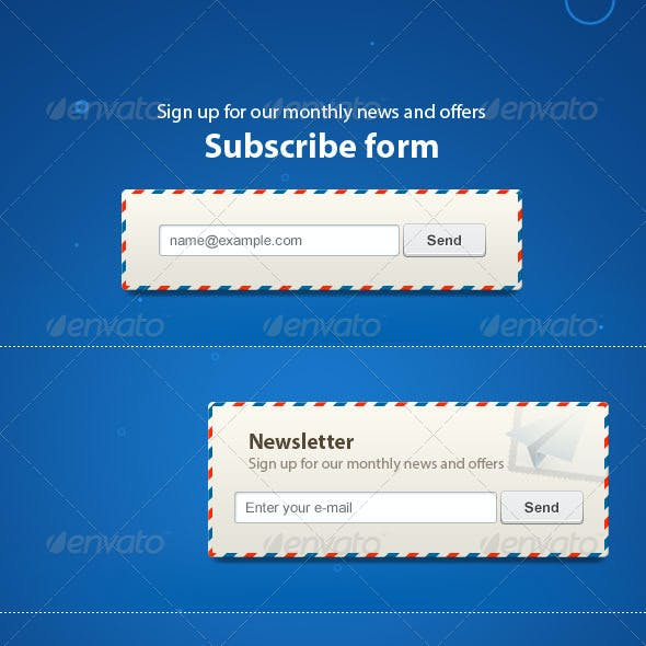 Contacts  & Newsletter Subscription Forms