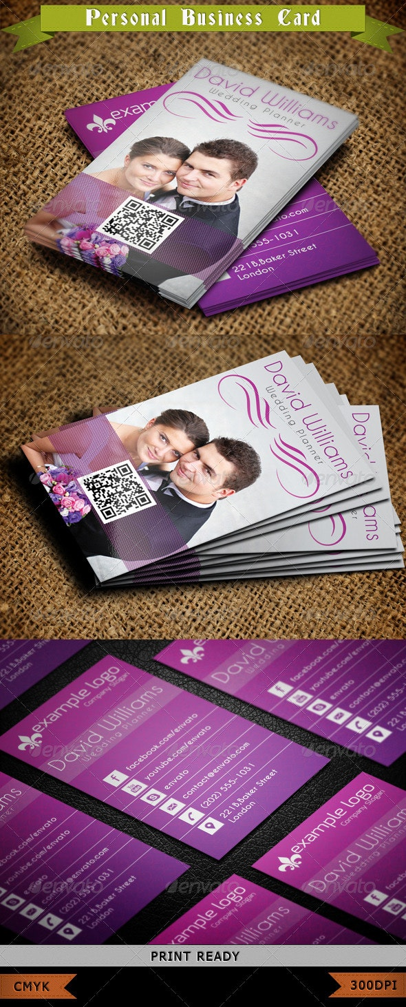 Wedding Planner Business Card - Creative Business Cards