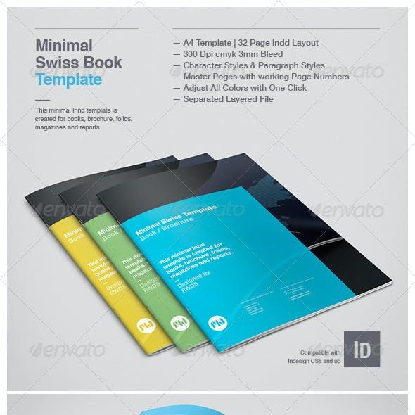 Minimal Swiss Print Template