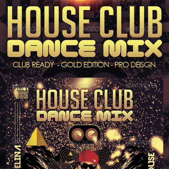 House Club Trance & Dance Mix Flyer - Gold Edition