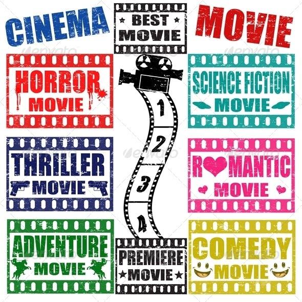 Set of Movie Genres Stamps