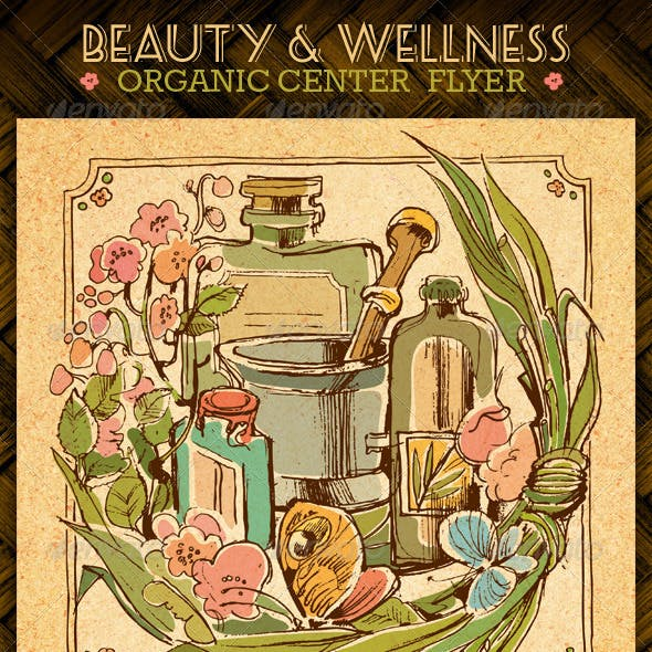 Beauty And Wellness Organic Spa Center Flyer