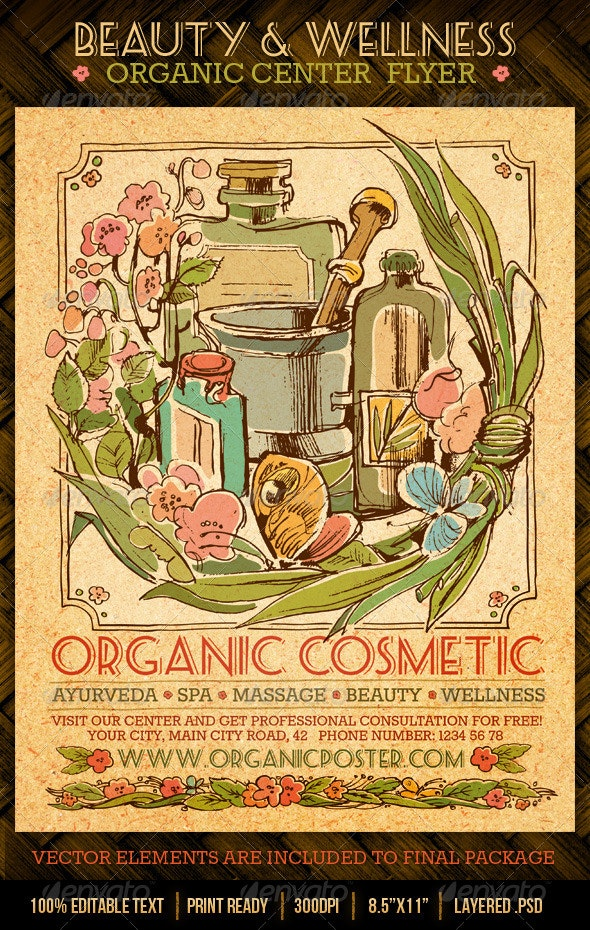 Beauty And Wellness Organic Spa Center Flyer - Miscellaneous Events