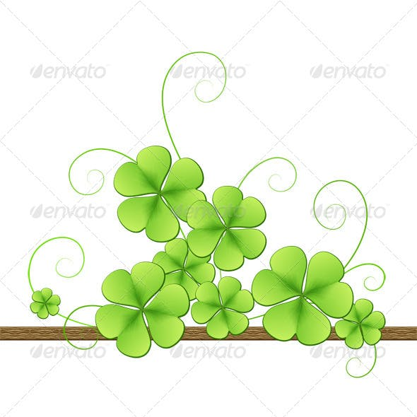 Clover Background for St Patricks Day