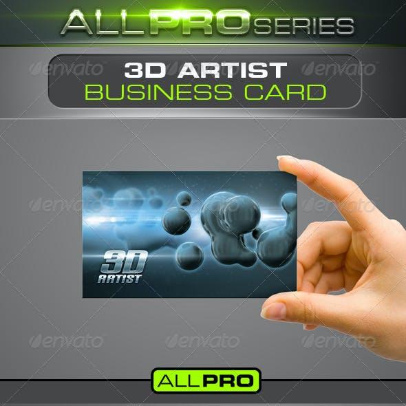 3D Artist Business Card