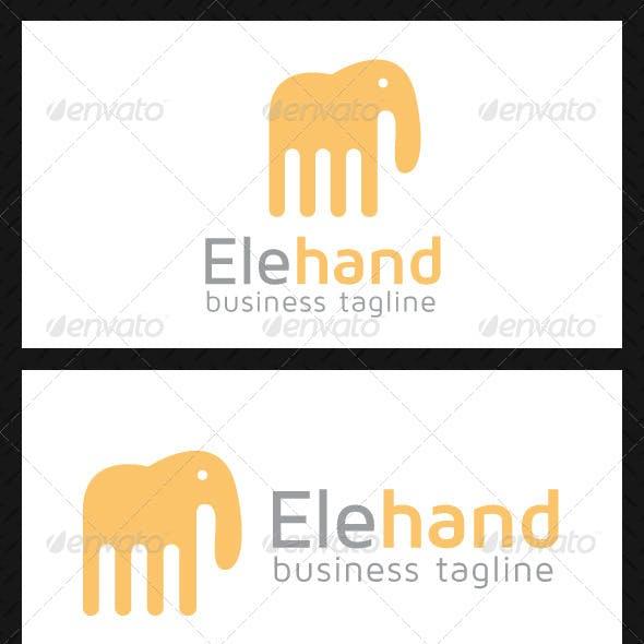Elephant Hand Logo Template