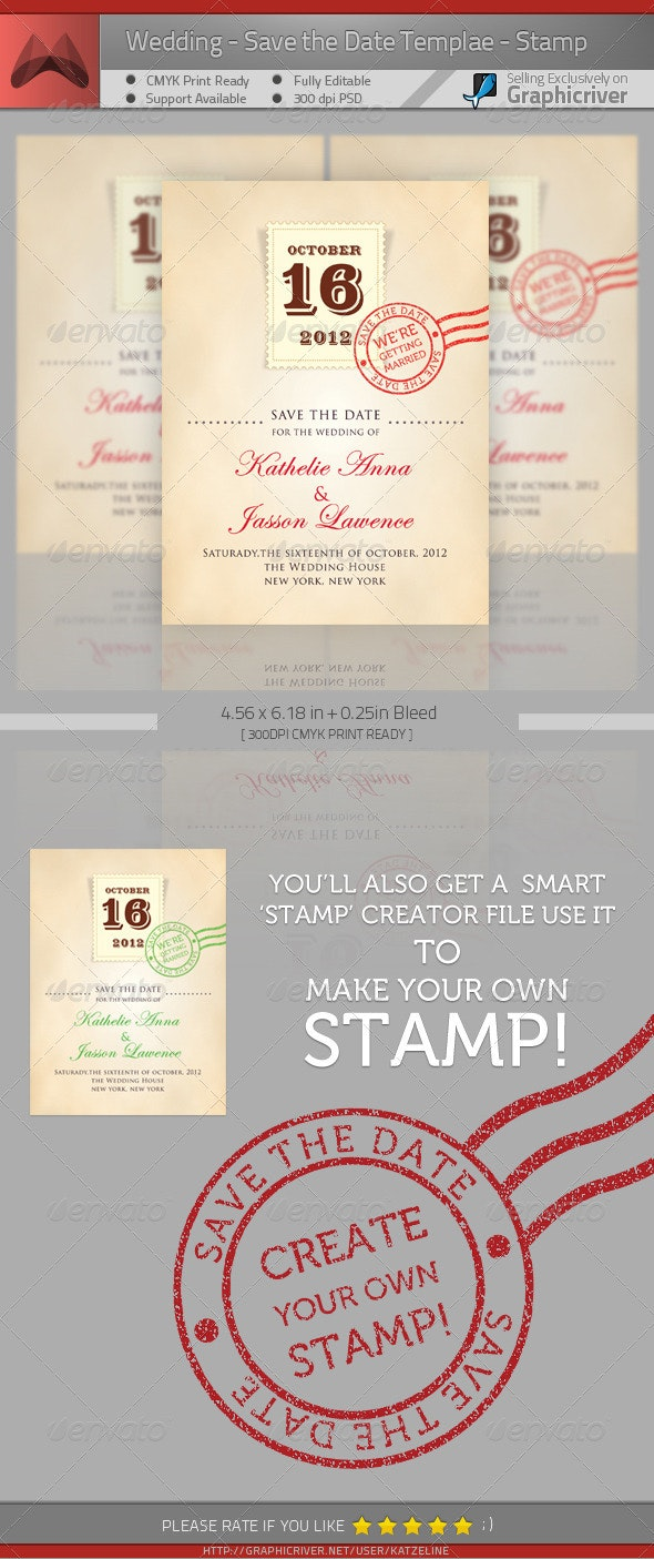 Wedding - Save the Date - Stamp - Weddings Cards & Invites