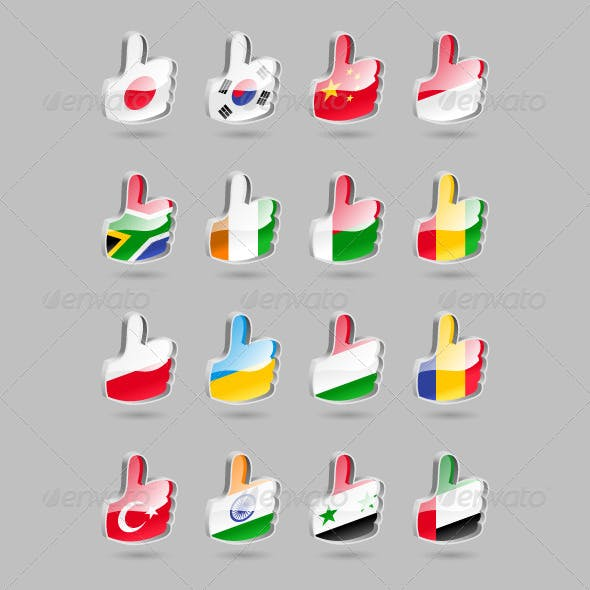 Thumbs Up Flags Part2