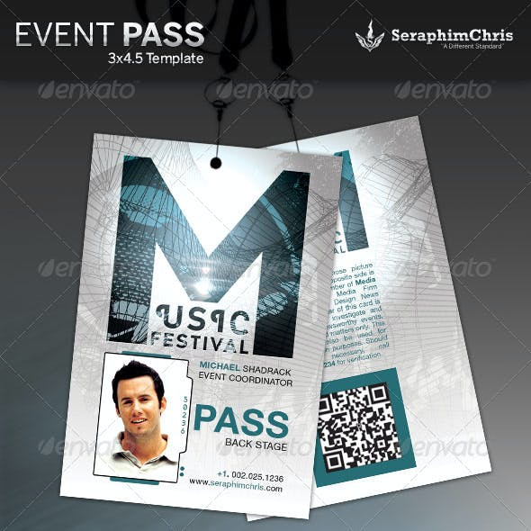 Music Event Pass Template