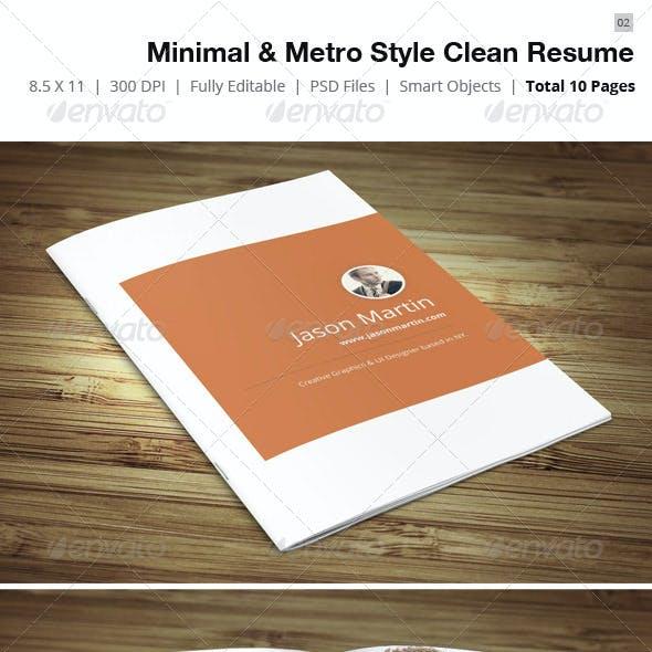 Minimal & Metro Style Resume