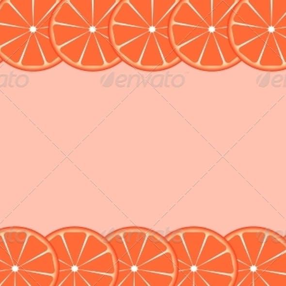 Orange Frame Vector Illustration