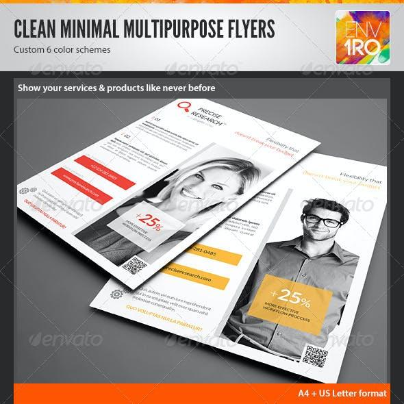 Clean Minimal Multipurpose Flyers vol. 3