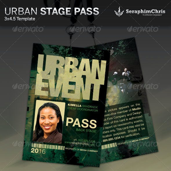 Urban Event Stage Pass Template