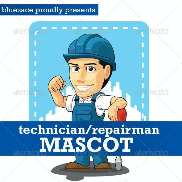 Technician or Repairman Customizable Mascot