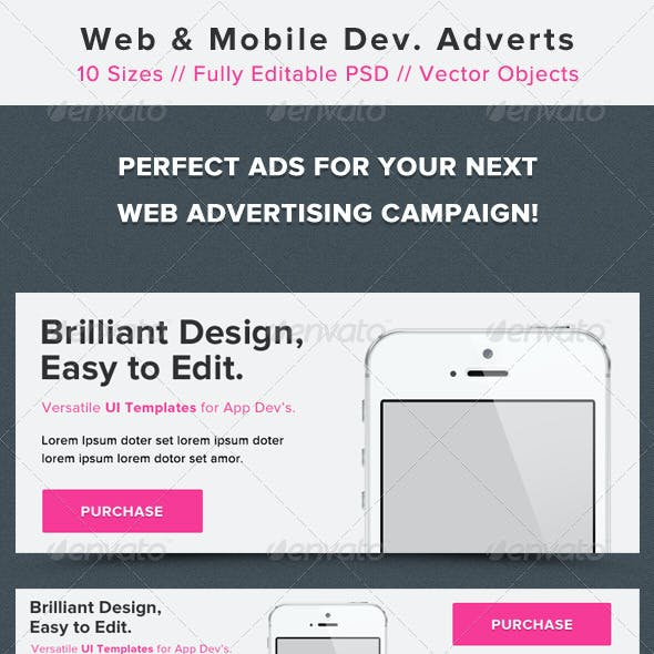Web and Mobile Development Advertisement Banners