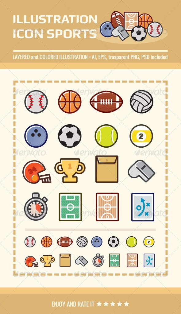 Illustration Icon Sports