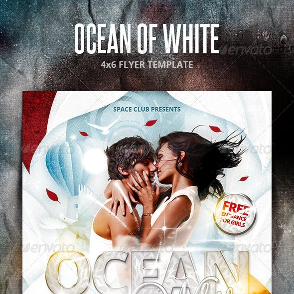 Ocean of White Party Flyer