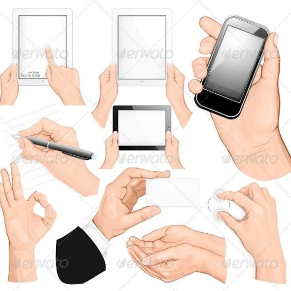 Big Set of Hands Illustrations
