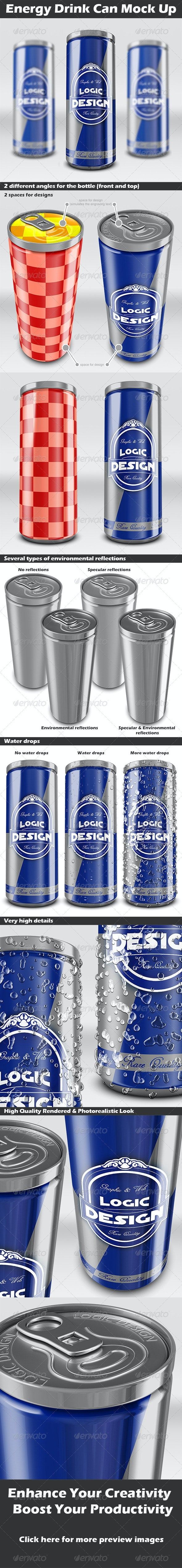 Energy Drink Can Mock Up - Miscellaneous Product Mock-Ups